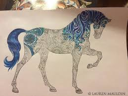 Adult Horse Coloring Book Pages Nerd Etsy Shop