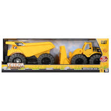 100 Tough Trucks Cat 2 Pack Dump Truck And Wheel Loader Gadgitechstorecom