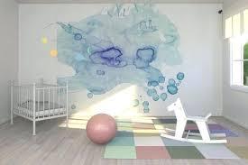 chambre bébé beige decoration chambre bebe murs deco mur aquarelle beige inte trishna