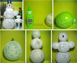 Creative And Simple Christmas Decoration Ideas Ballon Snowman Toy For Chrismas Eve Things Blog With Handicraft Home Decorating