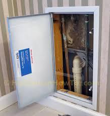 Access Door Panel & 14x29 Access Ableu0026reg White ABS Plastic