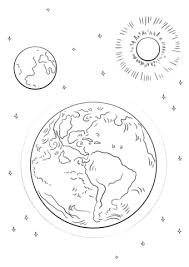 Click To See Printable Version Of Earth Moon And Sun Coloring Page