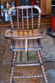 1980s Jenny Lind High Chair Makeover - Happily Ever Parker