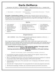 Walmart Resume Free Sample For Cashier Position Skills List At Best With No Experience Folder