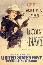 US Navy Id Join The WWII Propaganda Vintage
