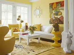 yellow paint walls living room bright yellow wallpaper decoration