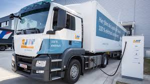 100 Ton Truck Porsche Trials Full Electric 40 Ton Truck For Logistics Electric