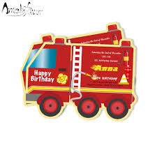 100 Fire Truck Birthday Party Invitations Detail Feedback Questions About 20 Pcslot Fighter