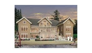 chalet 7 chambres plan de maison unifamiliale coastal w3928 dessins drummond
