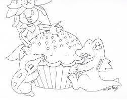 Cupcake Outline Drawing Cake Ideas and Designs