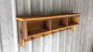 Image Of Rustic Wall Bookshelves