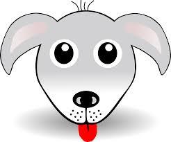 Dog 1 Face Grey Christmas Xmas Stuffed Animal Coloring Book Colouring 1969px 212K