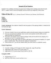 45 Sample Resume Format For Civil Engineer Fresher
