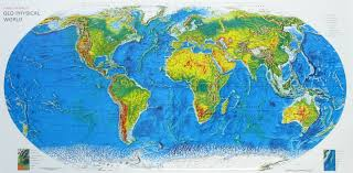 Raised Relief Geo Physical World Map