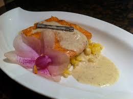 cuisine emulsion maple glazed salmon with vanilla emulsion cecile s cuisine