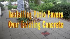 installing patio pavers existing concrete