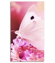 Pink Butterfly Mobile Wallpaper