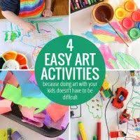 Four Easy Art Activities For Kids