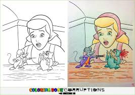 Coloring Book Corruptions Mouse