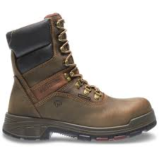 100 7m To Feet Wolverine Mens Cabor Size 7M Dark Brown Nubuck Leather Waterproof Composite E 8 In Boot