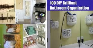 100 Brilliant Bathroom Organization and Storage DIY Solutions