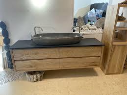 waschtisch doppelwaschtisch granit o flussstein waschbecken bad