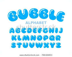 Bubble Letter Font Vector Bubble Alphabet Letters A Z Global Colors