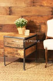 Double Crate Side Table