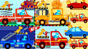 100 Fire Truck Game Videos Dinosaur For Kids YouTube