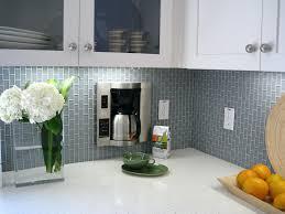 square glass tile backsplash kitchen grey shinny subway tile