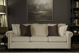 ashley casual 90 sofa in linen mathis brothers furniture