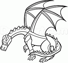 How To Draw Ender Dragon Step 20 Adult ColoringColoring PagesKids