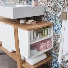 badezimmer waschbecken unterschrank sopot 01 in supermatt weiß mit navarra eiche nb bxhxt ca 111x67x46cm