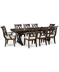 baker street dining furniture 9 pc set dining trestle table 6