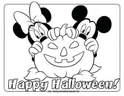 Mickey Mouse Coloring Pages Picture And Minnie To Print Baby 1st Birthday Halloween