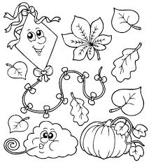 Fall Coloring Pages Print Kids Preshool