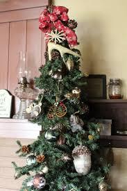 Primitive Rustic Lodge Christmas Tree Deer Antler Topper
