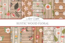 Rustic Wood Floral Backgrounds Textures Creative Market