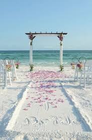 Destination Beach Wedding Arch And Aisle Ideas