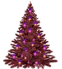 Purple Christmas Tree No Background Transparent Image