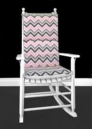 Pink Zig Zag Rocking Chair, Custom Covers And Inserts