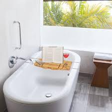 Bath Caddy With Reading Rack by Bathroom Fascinating Bamboo Bathtub Caddy With Reading Rack 12