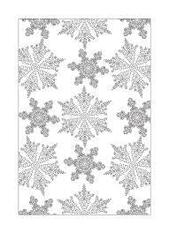 Beautiful Snowflake Free Colouring Sheet