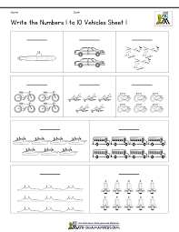 Count And Write To 10 Vehicles Sheet 1