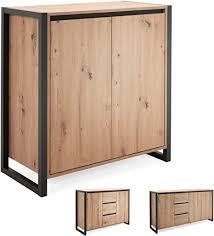 newfurn kommode anthrazit wildeiche sideboard vintage industrial 80x88x40 cm bxhxt highboard anrichte vincent one wohnzimmer schlafzimmer