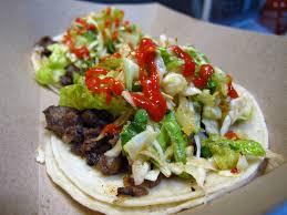 100 Koji Truck Korean Short Rib Tacos Sriracha At The Kogi BBQ Taco In Los