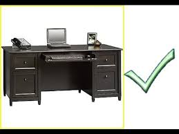 Sauder Edge Water Computer Desk With Hutch by Sauder Edge Water Executive Desk Youtube
