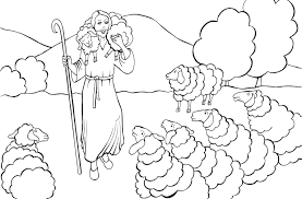 Good Shepherd Coloring Page Funycoloring