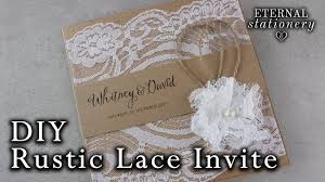 How To Make A Rustic Style Lace Wedding Invitation