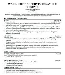 Warehouse Manager Resume Sample Management Example Samples